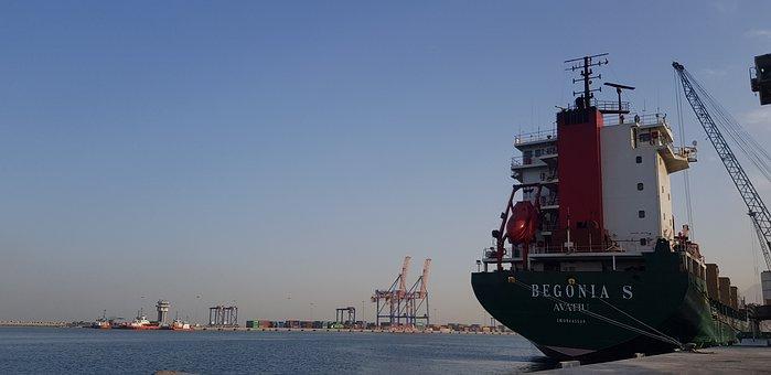 M V Begonia S, Bulk Ship, Port, Container, Terminal