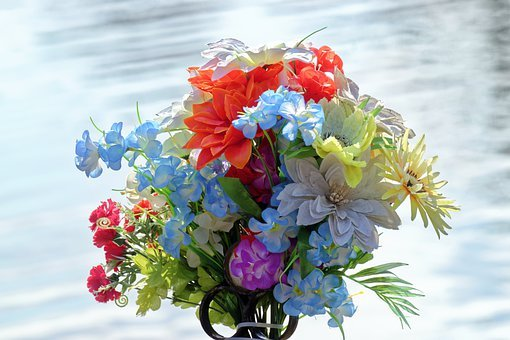 Flowers, Colored, Artificial, Group