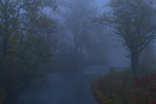 Fog, Landscape, Water, Diffuse, River, Bach, Waters