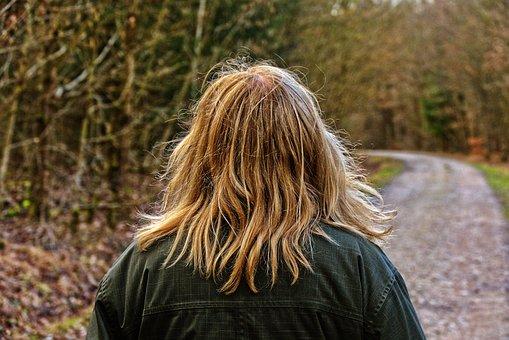 Woman, Hair, Hairstyle, Walk, Move, Head Hair, Circular