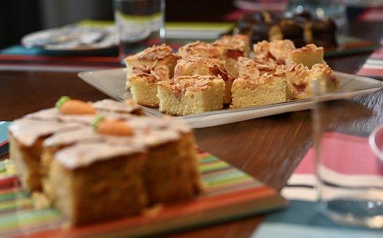 Cake, Almond Cake, Easter, Latottenkuchen, Dessert