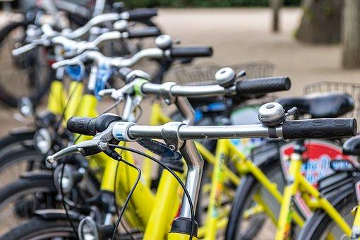 Bicycles, Rental, Metal, Colorful, Series, Electro