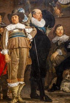 Rijksmuseum, Amsterdam, Holland, Painting Detail