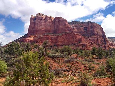Sedona, Arizona, Landscape, Nature, Desert, Scenic, Usa