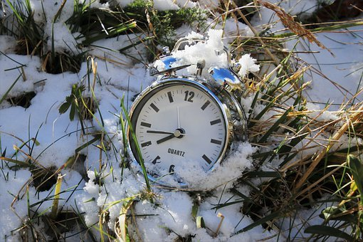 Alarm Clock, Change The Time, Early Spring, Snow, Time