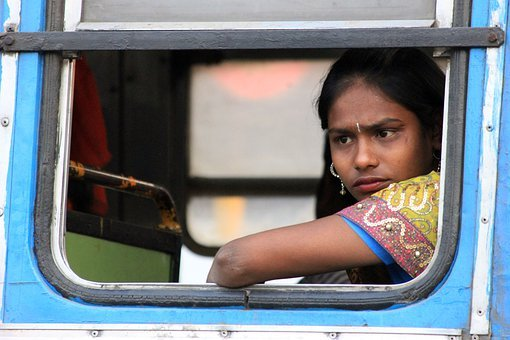 India, Woman, Look, Bus, Person, Indian, Travel