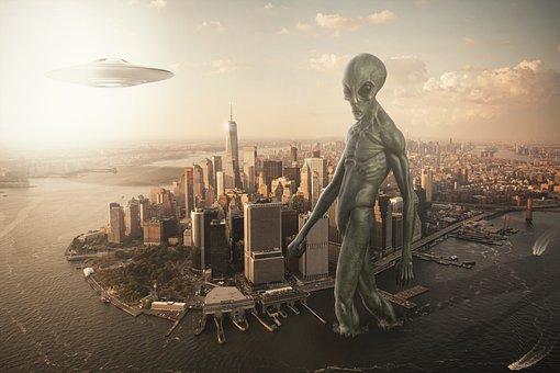Alien, Ufo, New York, Spaceship, Forward, Futuristic