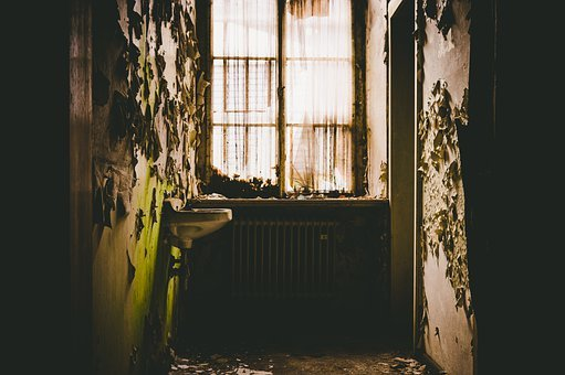 Space, Room, Backlighting, Interior, Vintage, Abandoned