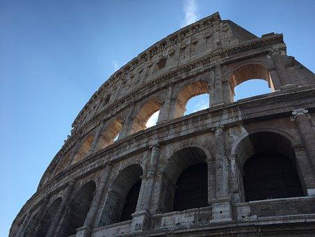 Colosseum, Rome, Italy, Europe, Antique, Amphitheatre