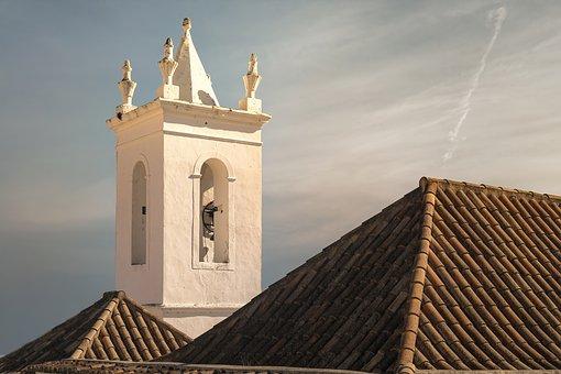 Church, Tower, Architecture, Sunset, Light, Bright