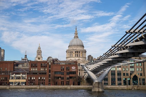 London, School, River, City, Bridge