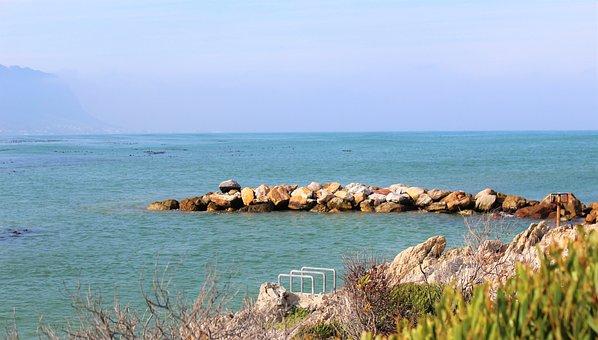 Rocks, Ocean, Sea, Shore, Coast, Sunset