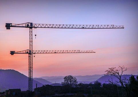 Cranes, Construction, Architecture, Build, Work