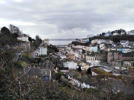 Torquay, Devon, England, Uk, Town, Coastal, Rooftops