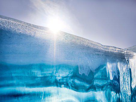Ice, Frozen, Baikal, Winter, Sun