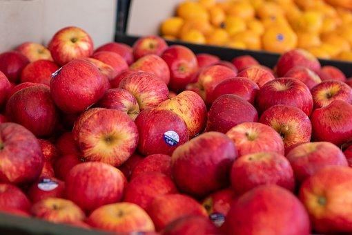 Apples, Sale, Market, Apple, Fruit, Healthy, Food