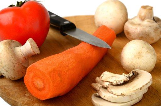 Mushrooms, Knife, Edible, Kitchen