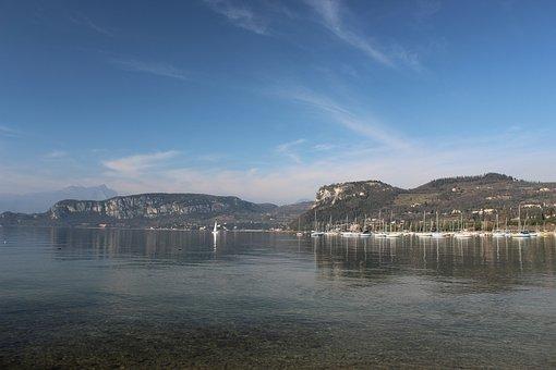 Bardolino, Boats, Garda, Lake, Lakeside, Landscape