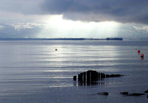 Lake Constance, Light, Clouds, Reflection, Water, Brine