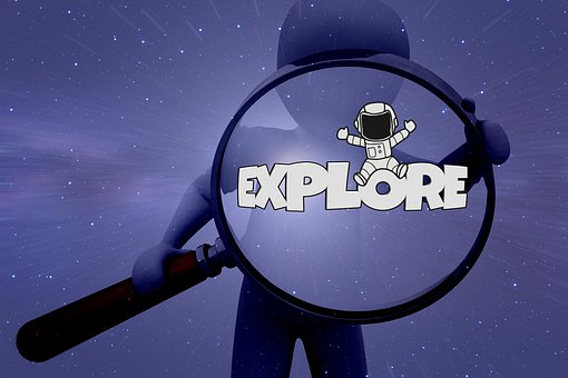 Magnifying Glass, Search, Discover, Research, Astronaut