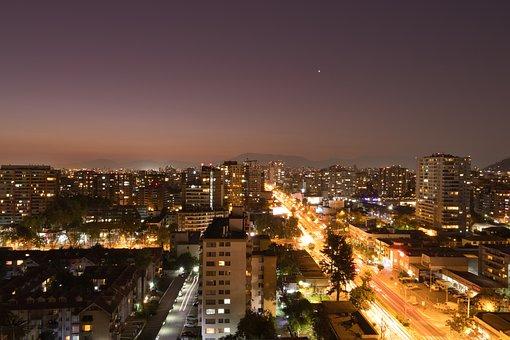 City, Streets, Buildings, Night, Via, Avenue, Transit