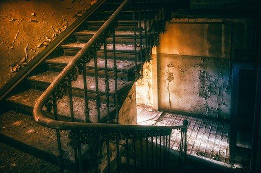 Stairs, Railing, Emergence, Gradually, Wood, Building