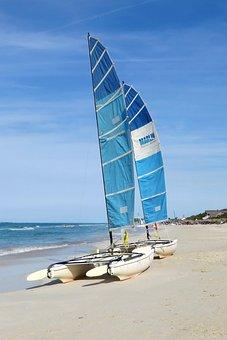 Beach, Catamaran, Shore, Sand, Sport