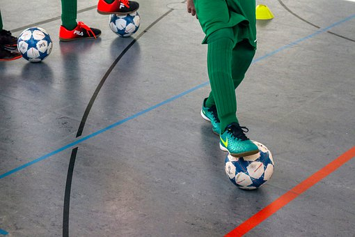 Training, Football, Sport, Indoor Soccer, Play, Ball