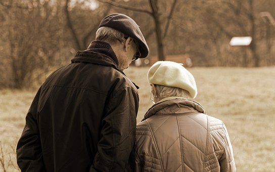 Couple, Age, Man, Woman, Old, People, Together, On