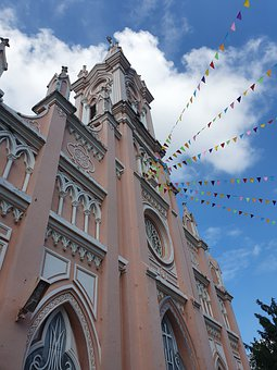 Vietnam, Pink Cathedral, Cathedral, Tourist Destination