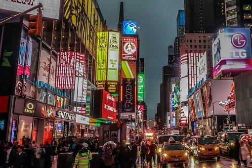 New York, Ny, Usa, U S, United States Of America, Night