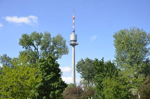Vienna, Donauturm, Tower, Modern, View, Urban Landscape