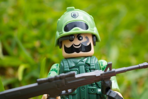 Soldier, Lego, Toy, Military, Army, Trooper, Uniform