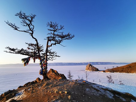 Sharman Rock, View Point, Baikal, Rusia, Natural
