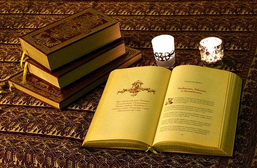 Book, Books, Oil Lamp, Scripture, Reading, Literature