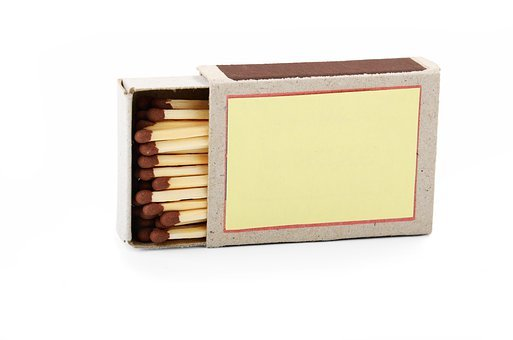 Open, Box, Matches, Matchboxes, Wood, White, Matchstick