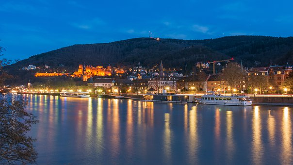 Heidelberg, City, Germany, Castle, Historically, Neckar