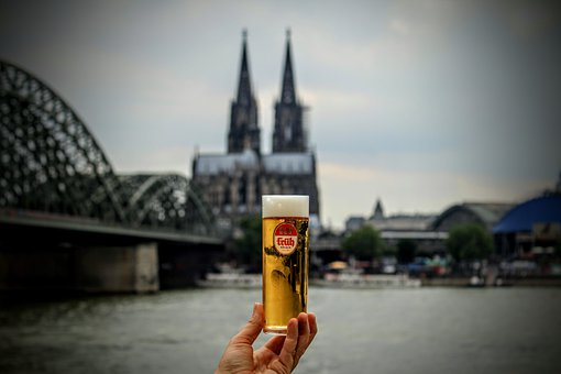 Cologne, Cathedral, Beer, Beer Glass