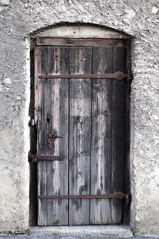 Door, Wooden Door, Input, Wood, Old, House Entrance