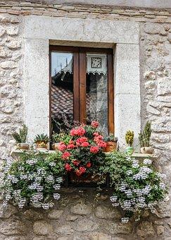 Window, Sill, Flowers, Ornament