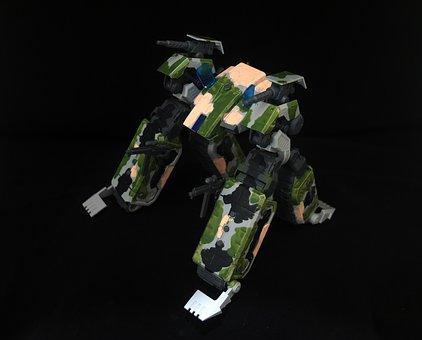 Movable, Crawler, Msg, Plastic, Model, Kit, Hand