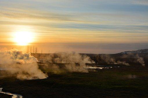 Iceland, Island, Sunrise, Nature, Landscape, Sky, Water