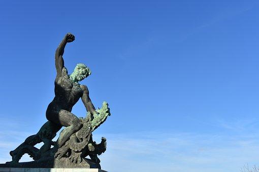 Liberty Statue, Budapest, Hungary, Europe, Travel, Sky