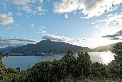 New Zealand, Cullen Point, Wakaraitu Bay, Bay, Sea