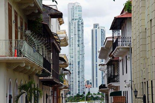 Panama, Panama City, Buildings, Street, Building, Urban