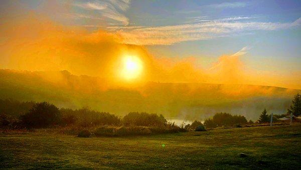 Pit, Mazyry, Summer, Water, Landscape