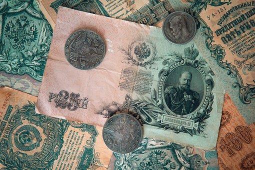 Set, Money, Background, Soviet, Vintage, Retro