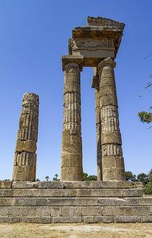 Temple, Ruins, Nature, Panorama, Park