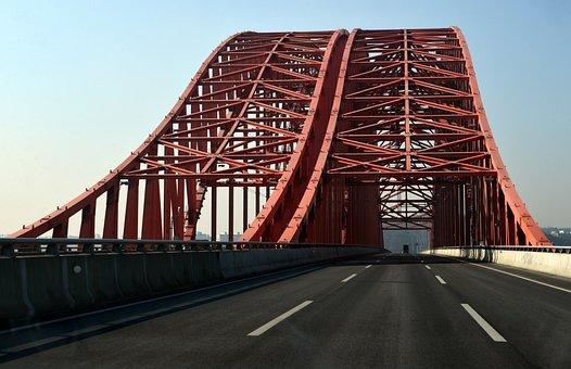 Bridge, Steel Structure, Road, Transport