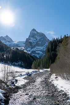 Rosenlaui, Switzerland, Mountains, Snow